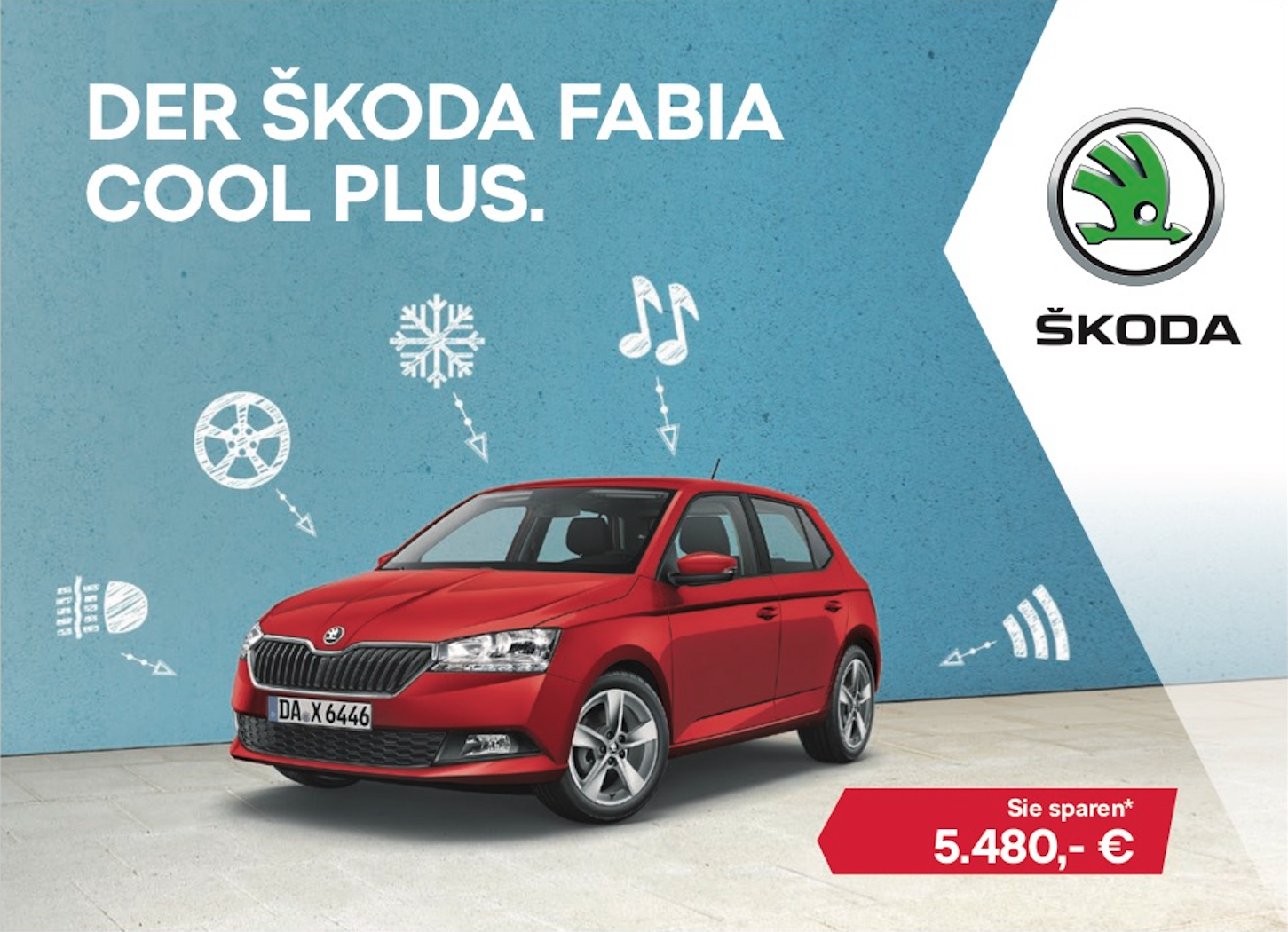 Der Skoda Fabia Cool Plus.